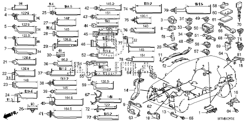 2008 MDX SPORT 5 DOOR 5AT HARNESS BAND - BRACKET diagram