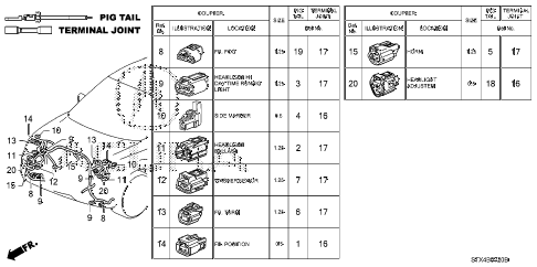 2007 MDX TECH 5 DOOR 5AT ELECTRICAL CONNECTORS (FR.) diagram