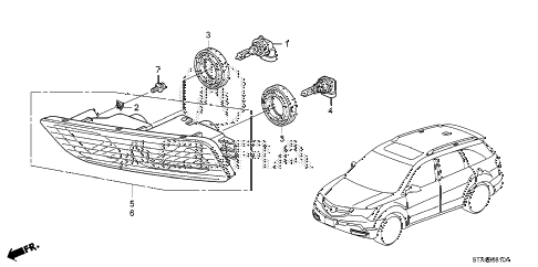 2009 MDX 5 DOOR 5AT FOGLIGHT diagram