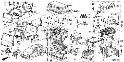 2008 MDX SPORT 5 DOOR 5AT CONTROL UNIT (ENGINE ROOM) (1) diagram