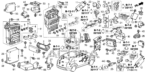 2008 MDX SPORT 5 DOOR 5AT CONTROL UNIT (CABIN) (1) diagram