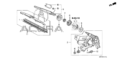 2007 MDX TECH 5 DOOR 5AT REAR WINDSHIELD WIPER diagram