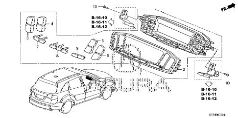 2009 MDX 5 DOOR 5AT AUTO AIR CONDITIONER CONTROL diagram