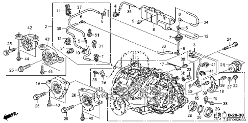 2008 MDX SPORT 5 DOOR 5AT REAR DIFFERENTIAL - MOUNT diagram