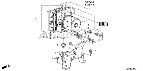 2008 MDX SPORT 5 DOOR 5AT VSA MODULATOR diagram