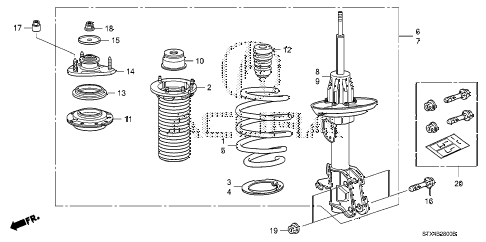 2007 MDX TECH 5 DOOR 5AT FRONT SHOCK ABSORBER (1) diagram