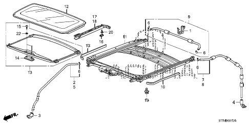 2009 MDX 5 DOOR 5AT SLIDING ROOF diagram