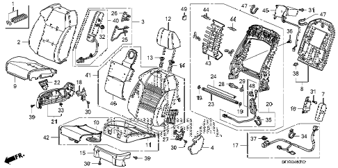 2008 MDX SPORT 5 DOOR 5AT FRONT SEAT (R.) diagram
