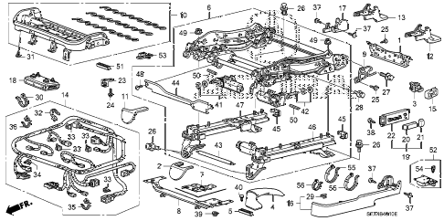 2007 MDX TECH 5 DOOR 5AT FRONT SEAT COMPONENTS (L.) diagram