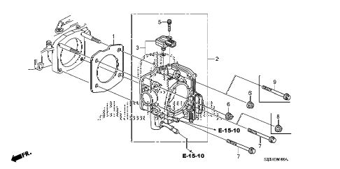2007 MDX TECH 5 DOOR 5AT THROTTLE BODY diagram