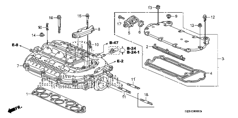 2007 MDX SPORT 5 DOOR 5AT INTAKE MANIFOLD diagram