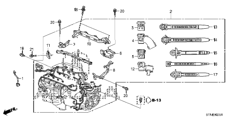 2009 MDX 5 DOOR 5AT ENGINE WIRE HARNESS (1) diagram