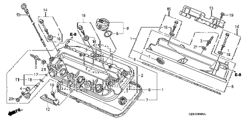 2007 MDX SPORT 5 DOOR 5AT CYLINDER HEAD COVER (1) diagram