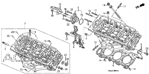 2007 MDX SPORT 5 DOOR 5AT REAR CYLINDER HEAD (1) diagram