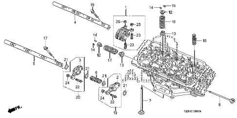 2007 MDX SPORT 5 DOOR 5AT VALVE - ROCKER ARM (FR.) diagram