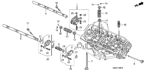 2008 MDX SPORT 5 DOOR 5AT VALVE - ROCKER ARM (RR.) diagram