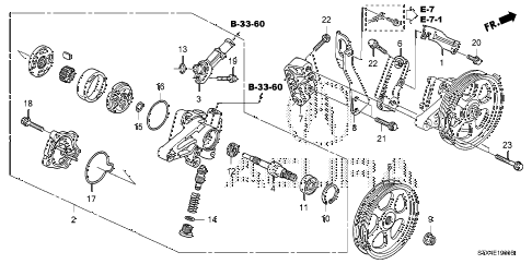 2007 MDX SPORT 5 DOOR 5AT P.S. PUMP - BRACKET diagram