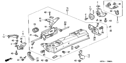2004 NSX-T 2 DOOR 4AT ROOF SIDE LOCK diagram