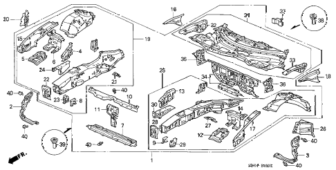 2005 NSX-T 2 DOOR 6MT FRONT BULKHEAD diagram