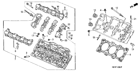 2004 NSX-T 2 DOOR 6MT CYLINDER HEAD (RR.) diagram