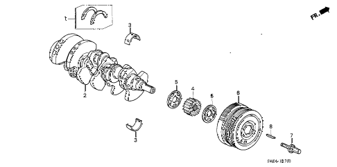 2004 NSX-T 2 DOOR 6MT CRANKSHAFT - PULLEY diagram