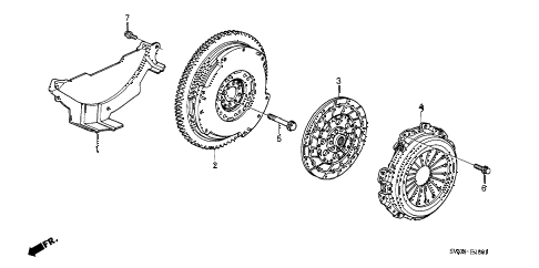 2003 NSX-T 2 DOOR 6MT CLUTCH - FLYWHEEL diagram