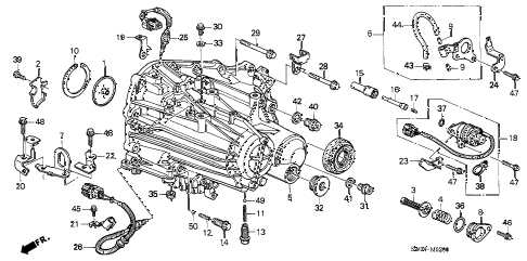 2003 NSX-T 2 DOOR 6MT MT TRANSMISSION CASE diagram