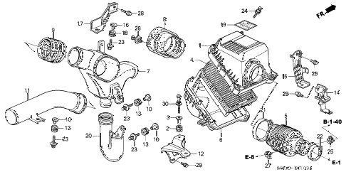 2005 NSX-T 2 DOOR 6MT AIR CLEANER diagram