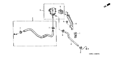 2005 NSX-T 2 DOOR 4AT PURGE CONTROL SOLENOID VALVE diagram