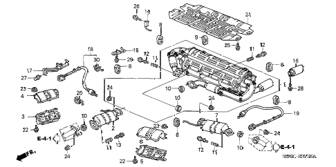 2005 NSX-T 2 DOOR 6MT EXHAUST PIPE (MT) diagram