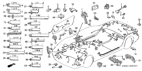 2003 NSX-T 2 DOOR 4AT HARNESS BAND - BRACKET diagram