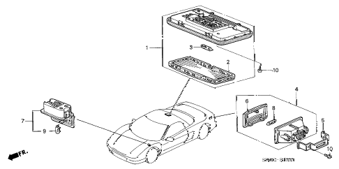 2005 NSX-T 2 DOOR 4AT INTERIOR LIGHT diagram