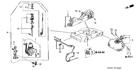 2003 NSX-T 2 DOOR 6MT ANTENNA - SPEAKER diagram