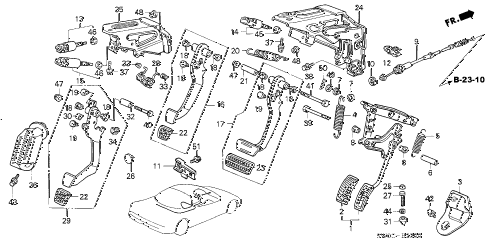 2004 NSX-T 2 DOOR 6MT PEDAL diagram
