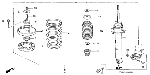 2005 NSX-T 2 DOOR 6MT FRONT SHOCK ABSORBER diagram