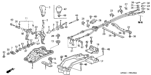 2003 NSX-T 2 DOOR 6MT SHIFT LEVER diagram