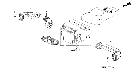 2003 NSX-T 2 DOOR 6MT DUCT diagram