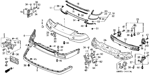 2005 NSX-T 2 DOOR 6MT FRONT BUMPER diagram