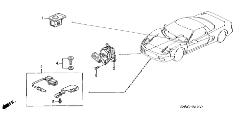 2005 NSX-T 2 DOOR 6MT A/C SENSOR diagram