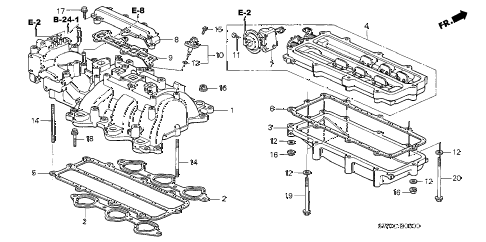 2003 NSX-T 2 DOOR 6MT INTAKE MANIFOLD diagram