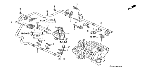 2004 NSX-T 2 DOOR 6MT SECOND AIR VALVE diagram