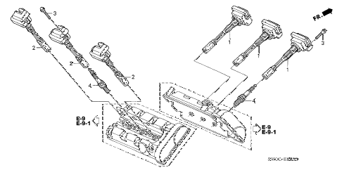 2004 NSX-T 2 DOOR 6MT IGNITION COIL - SPARK PLUG diagram