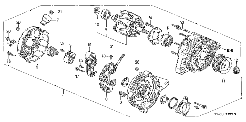 2003 NSX-T 2 DOOR 4AT ALTERNATOR (DENSO) diagram