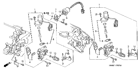 2003 NSX-T 2 DOOR 4AT SPOOL VALVE - OIL PRESSURE SENSOR diagram