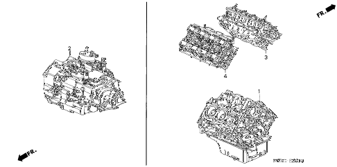 2003 NSX-T 2 DOOR 4AT ENGINE ASSY. - TRANSMISSION ASSY. diagram