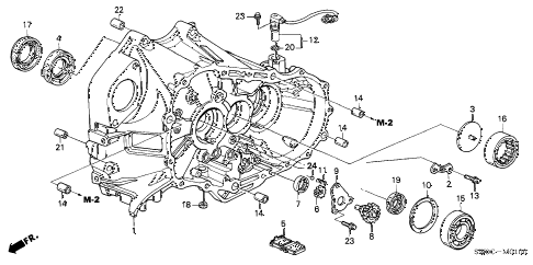 2003 NSX-T 2 DOOR 6MT MT CLUTCH CASE diagram