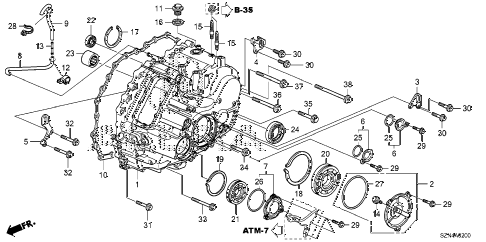 2013 ZDX 5 DOOR 6AT AT TRANSMISSION CASE diagram