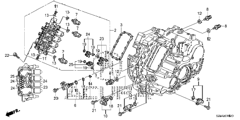 2012 ZDX TECH 5 DOOR 6AT AT SENSOR - SOLENOID - SECONDARY BODY diagram