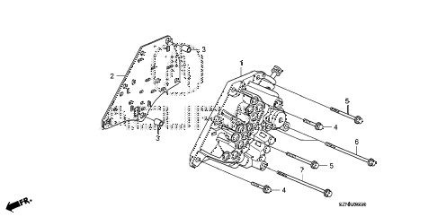 2011 ZDX TECH 5 DOOR 6AT AT MANUAL VALVE BODY diagram