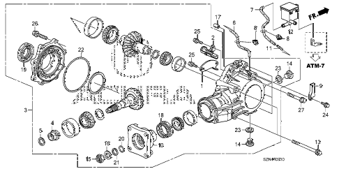 2011 ZDX BASE 5 DOOR 6AT AT TRANSFER diagram